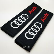 A pair of 2x Audi seat belt shoulder pads covers buckle baby safety cushion