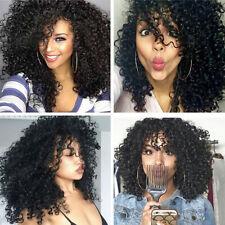 Mode Nature Noir Femmes Perruque Longue Frisée Ondulé Lace Front Cheveux