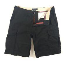 """TOMMY HILFIGER Cargo Shorts Men's Black Brushed Twill 10"""" Shorts 78E1745"""