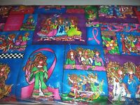 VINTAGE WACKY WOMEN PRINT FABRIC  - 14 YARDS IN STOCK - BY THE YD - UNOPENED