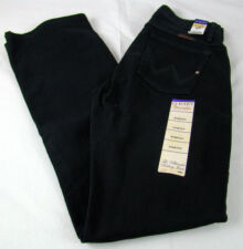 Womens Wrangler Q-BABY Black Magic Mid Rise Boot Cut Jeans WRQ20BL Size 5/6 x 32