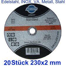 Trennscheibe 230 x 2 mm für Metall + INOX 230x2 mm 20 X