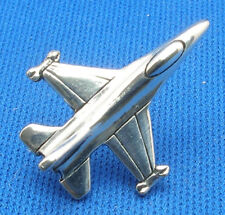 F-16C Fighting Falcon Tie Tac, Hand Crafted Sterling Silver jet airplane tack