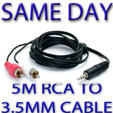 New long 5m 3,5mm to hifi or TV cable RC for iPAD iPOD Samsung LG HTC Phones