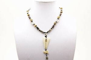 Maisha Beautiful Pendant Necklace with glass beads FairTrade Handmade in Africa