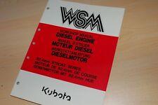 KUBOTA 92.4MM STROKE SERIES Diesel Engine Service Manual GEHL SKID STEER LOADER