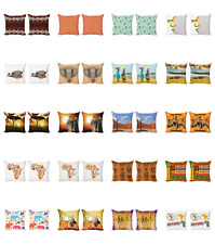 Ambesonne African Cushion Cover Set of 2 for Couch and Bed in 4 Sizes