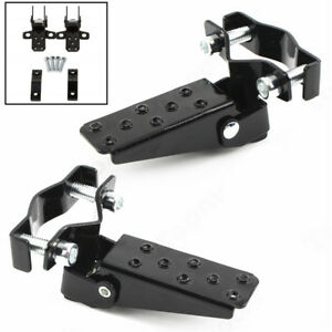 Universal Black Motorcycle Back Seat Foot Peg Rear Pedal Footrest Clamp 25-30mm