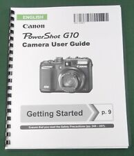 Canon PowerShot G10 Instruction Manual: Comb Bound & Protective Covers!