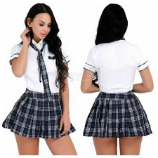 Women's Sexy Lingerie School Girl Uniform Cosplay Costume Students Fancy Dress