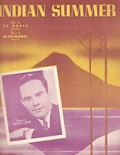 INDIAN SUMMER 1939 Sheet Music - George Griffin on cover