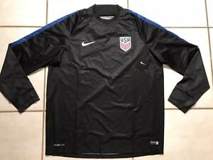 NWT NIKE STORM-FIT USA National Team BLACK Pullover Training Top Men's XL 739902