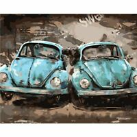Cool Bright Volkswagen Beetle Vintage Stylish Car Fun Paint By Numbers CanvasArt