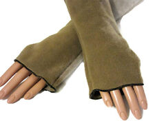Soft Camel Tan Arm Warmers Fleece Holiday Gift