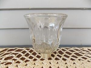 """Vintage Home Interiors Valencia Clear Glass Votive Cup Candle Holder 3 1/2"""" tall"""