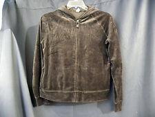 Gap Body Hoodie Womens Size M Brown Velour Athletic Zipped Long Sleeve Jacket