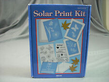 Solar Print Kit New- Blank Note Cards-Envelopes-Stencil Sheets-Frames Nice