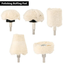 5x Polishing Buffing Pad MOP Wheel Drill Kit for Car Polisher Aluminum Stainless