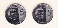 Philippines  ANDRESS BONIFACIO 5 Pesos X2 NGC  UNC