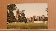Postcard posted Warwickshire, Rugby School from close