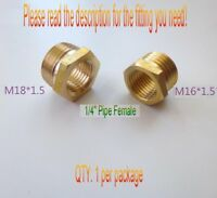 """Pipe Fitting 1//2/"""" BSP BSPP Female to Metric M22 M22X1.5 Male Brass Adapter #HF"""
