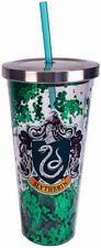 Harry Potter Slytherin 18oz Acrylic Cup With Straw & Glitter!