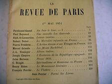 LA REVUE DE PARIS n° 9 - 1934 revue littéraire lamartine  vaudoyer debré etc