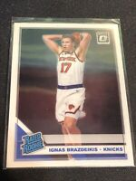 2019-20 Optic IGNAS BRAZDEIKIS Knicks Base RC RATED ROOKIE #173