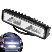 """6"""" 48W 16LED Arbeitsscheinwerfer Flutlicht Driving Fog Lampe Bar Offroad LKW SUV"""