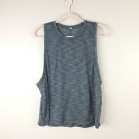 LULULEMON womens size 6 heather charcoal gray workout athletic muscle tank top
