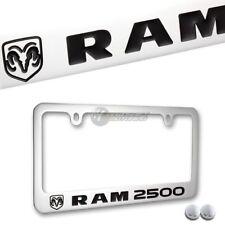 DODGE RAM 2500 Chrome Plated Brass License Plate Frame Officially Licensed