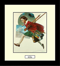 Norman Rockwell WET PAINT Framed Artist Painting Wall Hanging Art Gift