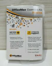 OfficeMax Essentials Kit Printer Service Protection McAfee Protection Included