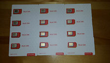 Rogers Triple Format LTE Sim Card (Full size Sim / Micro Sim / Nano Sim)