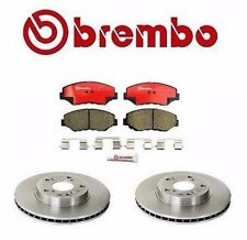 2 Front For Honda Accord CRV Element Acura ILX Brembo Disc Brake Rotor & Pad Set