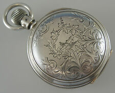 Massive 5oz Silver Hunter Pocket Watch by Elgin c1895
