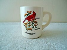 "Vintage Ceramic Kentucky Cardinal / Goldenrod Coffee Cup / Mug "" BEAUTIFUL ITEM"