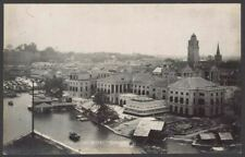 More details for singapore. singapore river & government offices. vintage real photo postcard