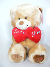 Teddy Bear Love You Sweetheart Valentine Soft Red Cuddly Heart Girlfriend Wife