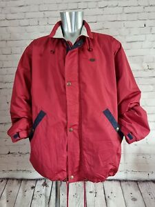 Lacoste Sport by Devanlay fleece lined casual jacket with zip up frint in Red