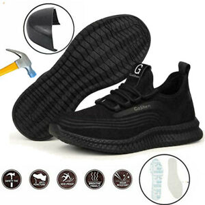 Lightweight Work Boots Mens Women Steel Toe Cap Hiking Trainers Army Safety Shoe