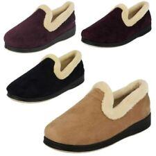 Zapatillas de andar planos de color principal morado por casa de mujer