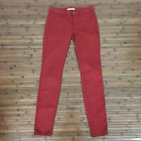 Womens Rich & Skinny Lightweight Red Stretch Skinny Jeans Size 26