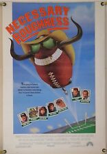 NECESSARY ROUGHNESS DS ROLLED ORIG 1SH MOVIE POSTER SCOTT BAKULA FOOTBALL (1991)