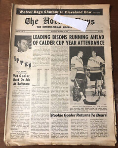 1968 Buffalo Bisons Hockey Hockey News Baltimore Clippers Orr Oakland Seals