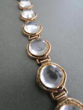 Vintage Silver Gilt Quartz Crystal Bracelet