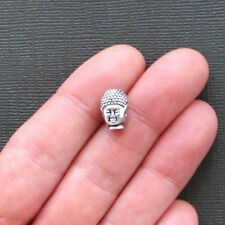 4 Buddha Charm Beads Antique Silver Tone Awesome Detail 3D - SC1821