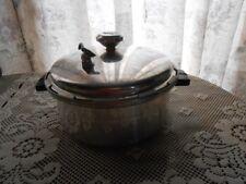 Vintage Massillon Pressure Cooker Pan Aluminum 4 Quart Cookware