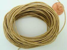 10 mètres fil cordon COTON CIRE MARRON CLAIR 1mm echeveau  lacet DIY bijoux déco