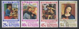 St Kitts-Nevis - 1975, Christmas set - F/U - SG 346/9